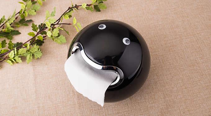 Cartoon Pac-Man Toilet Paper Holder Dispenser