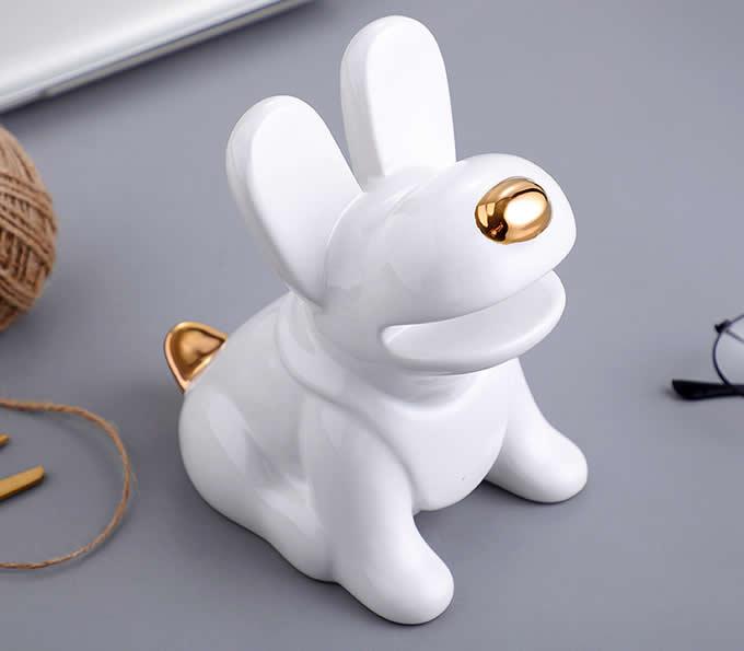 Ceramic   Puppy Desk Phone Stand Dog Shape Smartphone Holder
