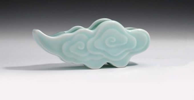 Clouds Business Name Card Holder Display Stand for Desk