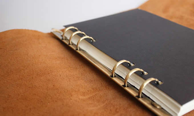 Handmade Genuine Leather Refillable  Binder Diary Travel Journal Notebook
