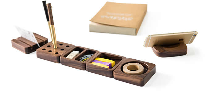 Wooden modular desk organizers feelgift - Modular desk organizer ...