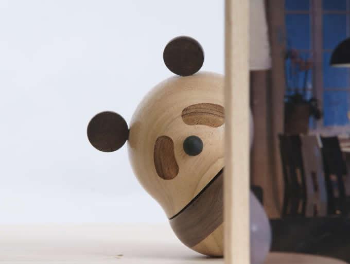 Panda Wooden Music Box