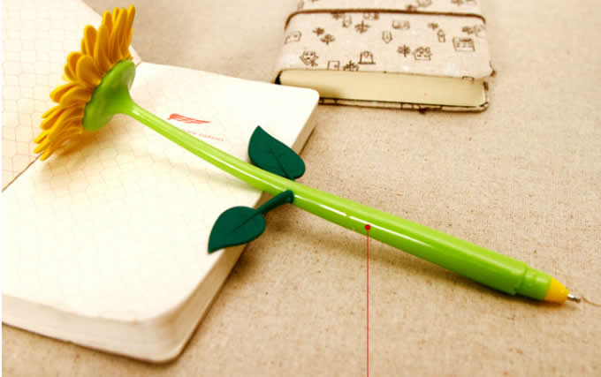 18 Pieces Sunflower Pen in Flower pot