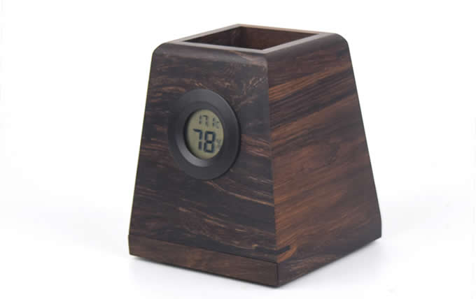 Wooden Phone Stand with Pen&Pencil Cup Holder/Pot
