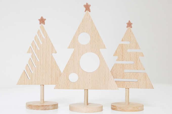 Wooden Tree Desk Organizer Set