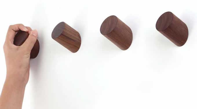 2pcs/lot Wooden Wall Hook,Coat Hooks