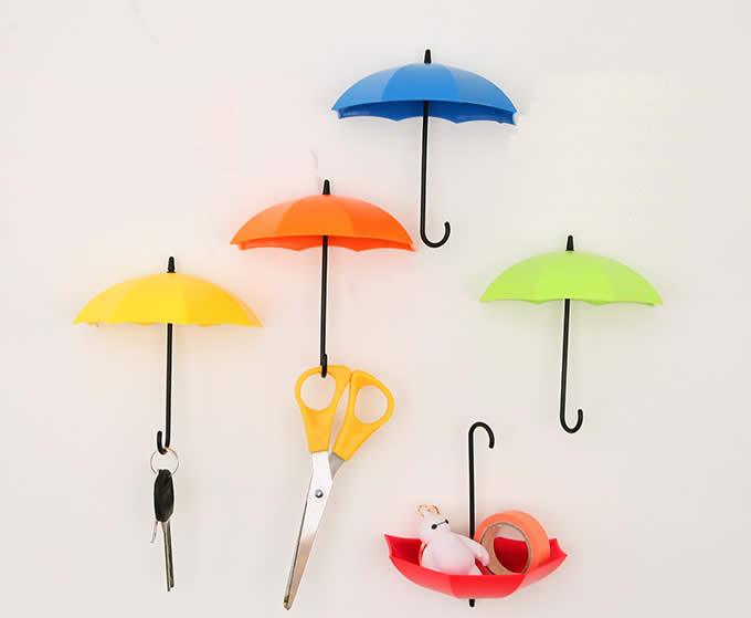 Cool Hooks 6pcs umbrella style wall mount self adhesive wall hooks - feelgift