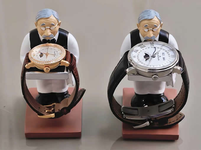 Astronaut & Old Man Watch Jewelry Bracelet Display Stand