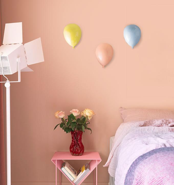 Beautiful Macron Color Ceramic Balloon Children Room Wall Decoration