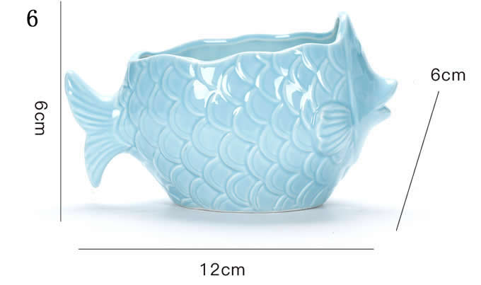 Ceramic Fish Shaped Succulent Planter Flower Pot