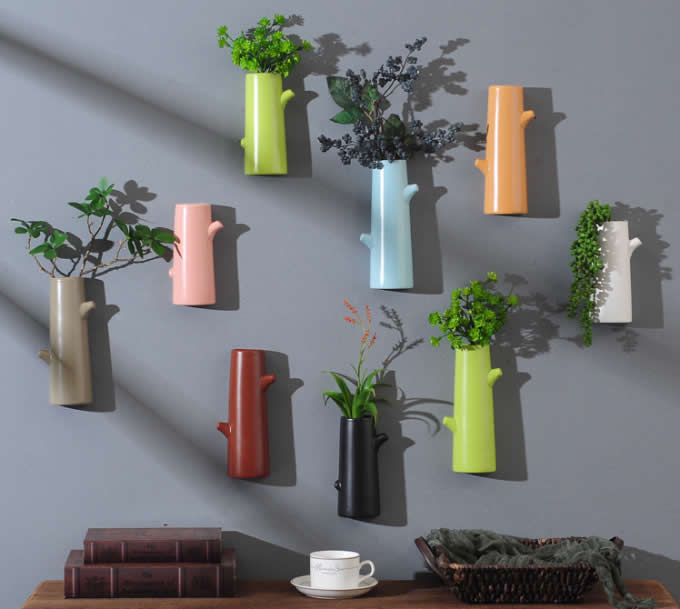 Ceramic Wall Mount Vase