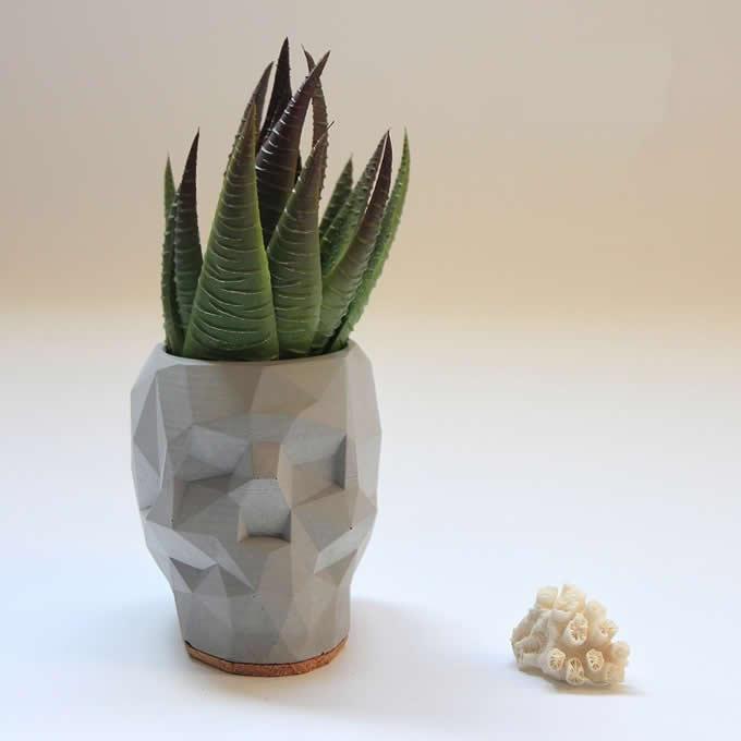 Concrete Transformers  Figurine Pen Holder/Desk Storage Organizer/ Flower Pot