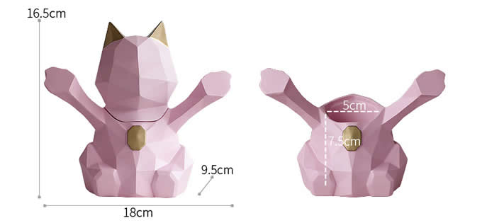 Cute Cat Resin Toothpick Holder
