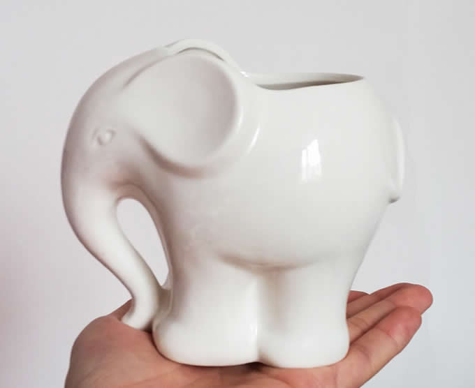 Cute Elephant Ceramic Succulent Planter Flower Pot