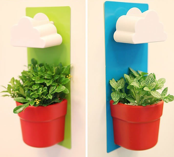 diy wallmounted rain clouds planters