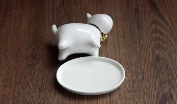Dog Ceramic Succulent Planter Flower Pot