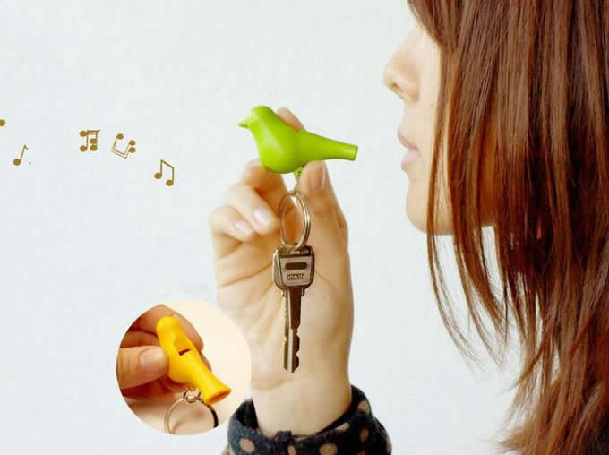 Sparrow Birdhouse Key Holder With Whistle Feelgift