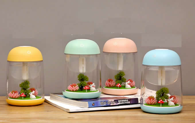 USB  Mist Humidifier with Colorful LED Night Light