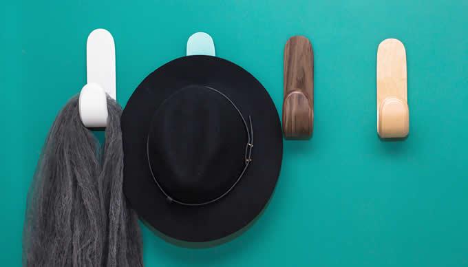 Wood Wall Hooks Coat Hooks Hanging Clothes Hats Robes Towels