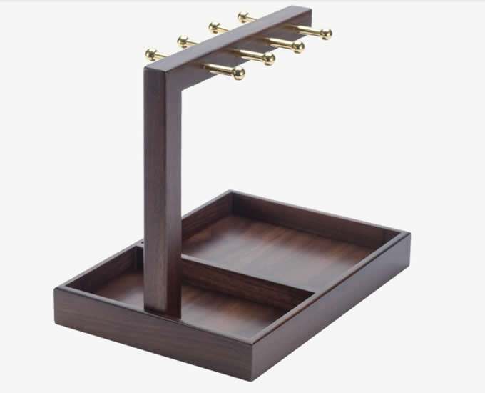 Wooden Jewelry Stand  Storage Necklaces Bracelets Earrings Holder Organizer