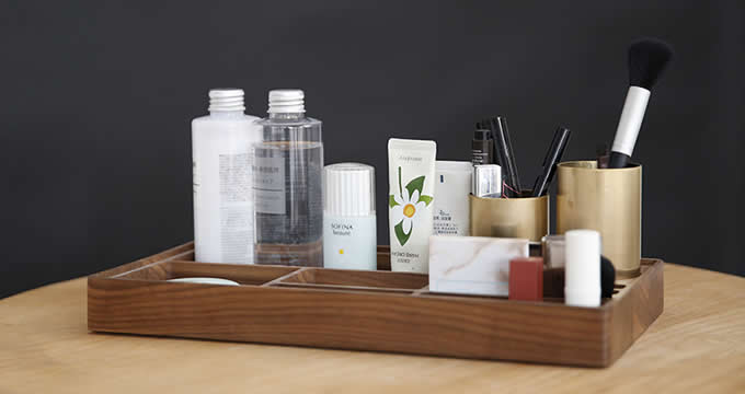 Wooden Makeup Storage Makeup Organizer Skincare Organizer Cosmetic Box