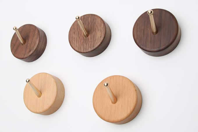 Wooden Hooks Wall Mounted Coat Hanging Hook