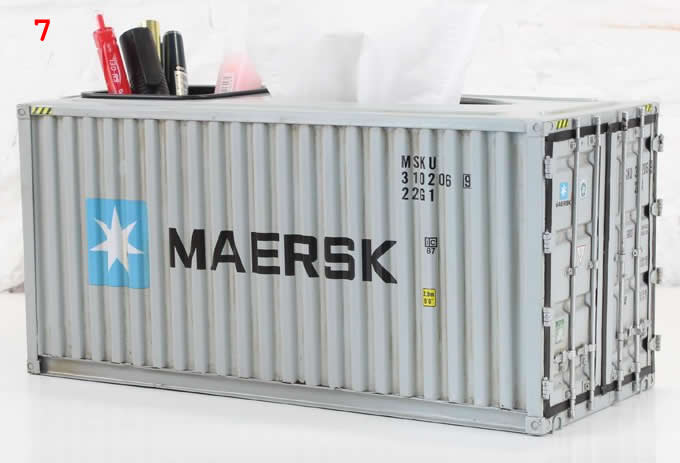 Handmade Shipping Container Model Desk Office Supplies
