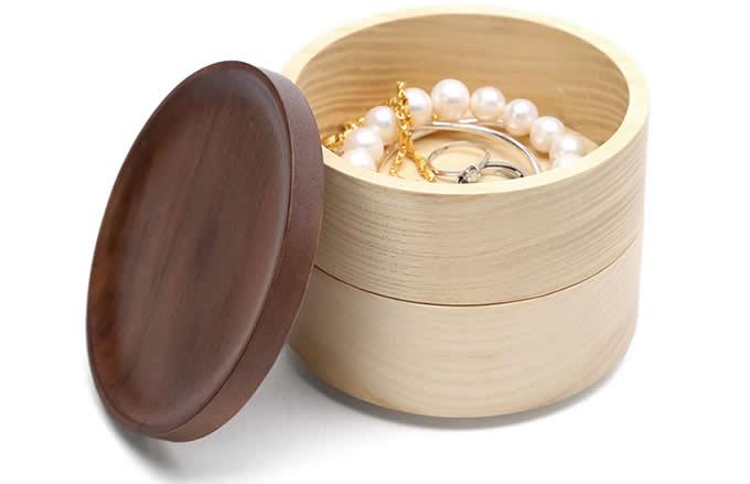 2 Tier Wooden Jewelry Box Organizer