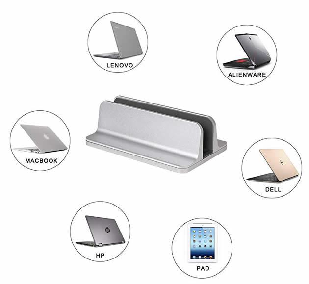 Classic Aluminum Laptop Computer&Ipad Desktop Storage Stand Organize Storage Holder
