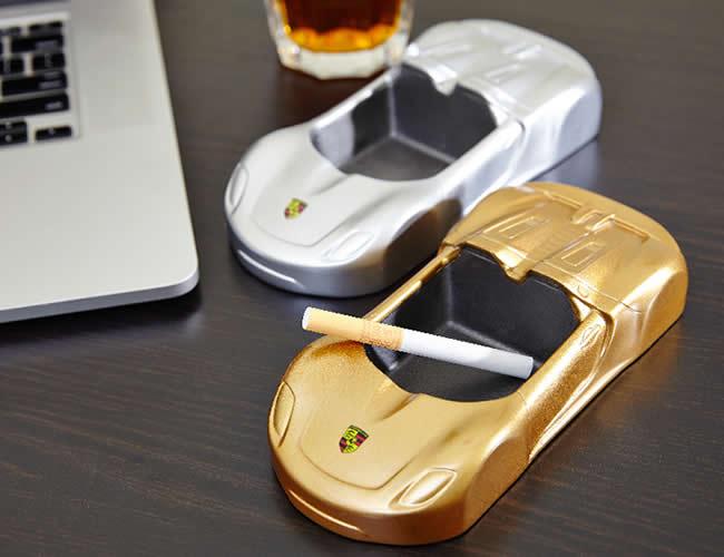 Creative Golden Sports Car Shape Desktop Decoration Ashtray