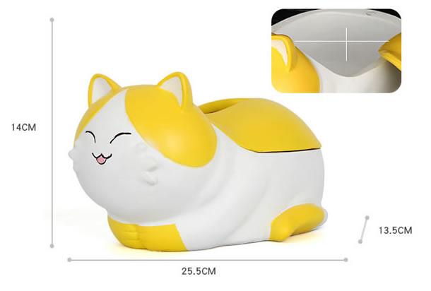 Cute happy cartoon cat tissue box home decoration storage box
