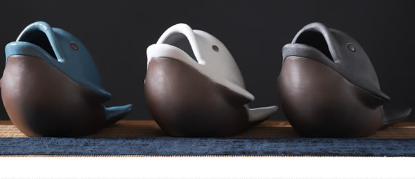 Cute little dolphin ceramic ashtray home decoration