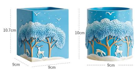 Exquisite blue dream jungle deer office organize pen holder