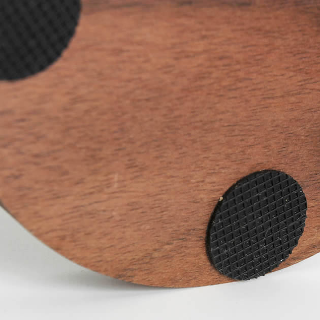 Simple Solid Wood Black Walnut Desktop Headphone Stand & Holder