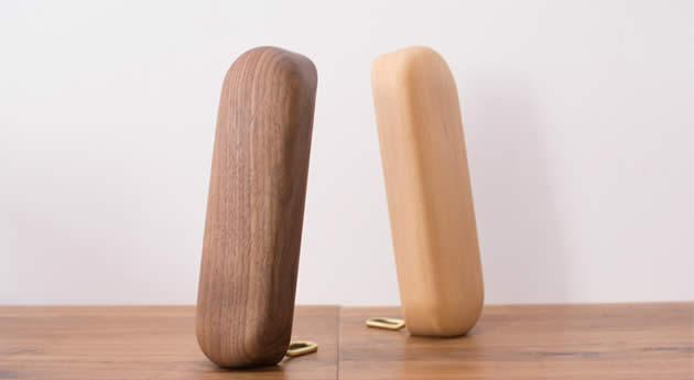 Universal Desktop Organize Wooden Headphone Stand Black Walnut Beech Holder