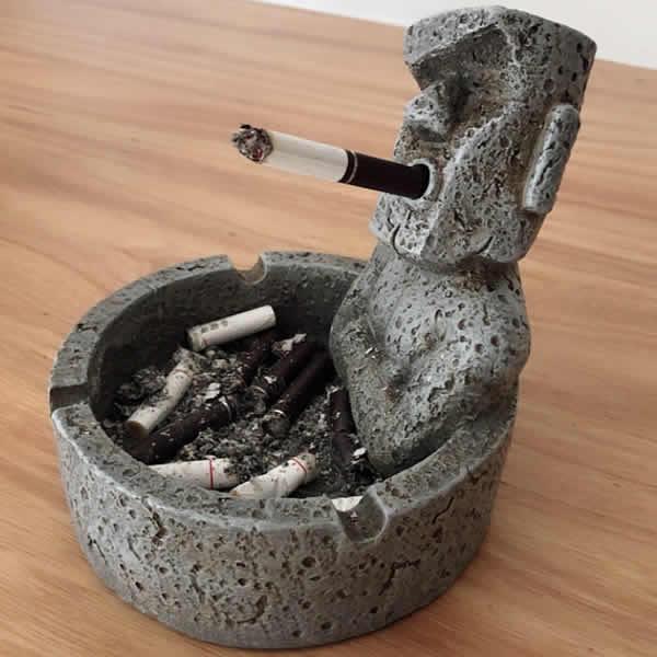 Vintage funny giant stone people decorative ashtray Desktop ornaments
