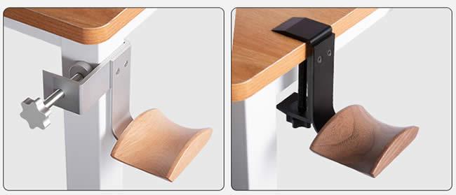 Wooden Earphone Holder Fixed On The Table Black Walnut Headphone Hanger