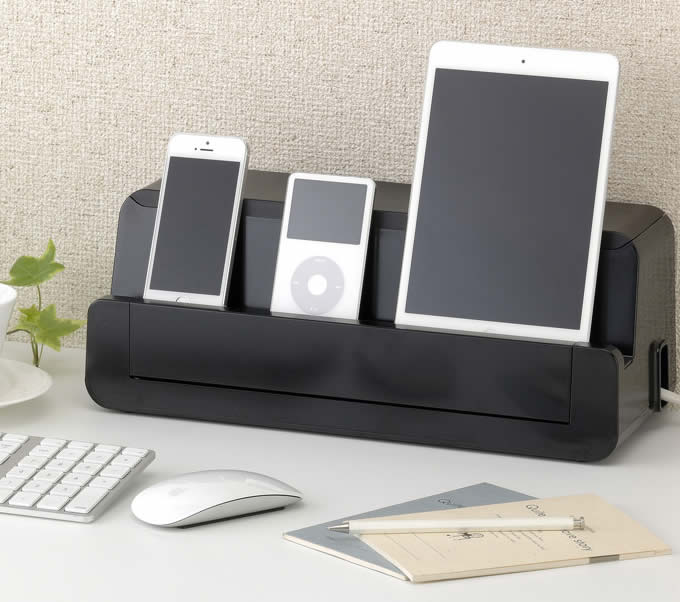 Cable Cord Management Storage Box  Charger Holder