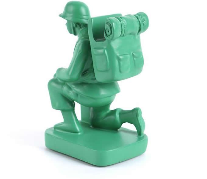 Cartoon Soldier  Eyeglass Holder