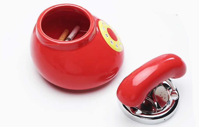 Ceramic telephone Shape Cigarette Ashtray