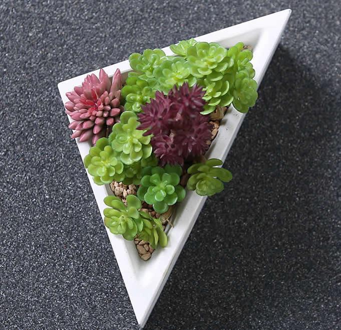 Wooden Pen Stand Designs : Concrete modular geometric succulent planter plant pot
