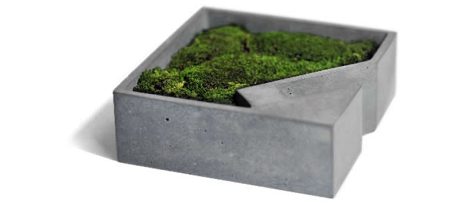 office planter. concrete office storage organizer tray succulent planter plant pot flower