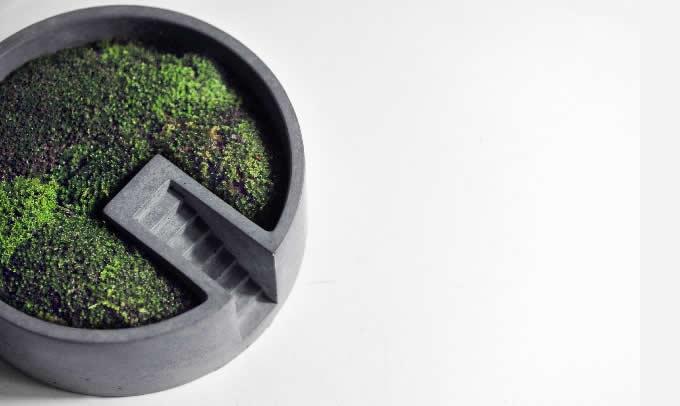 Concrete Office Storage Organizer Tray Succulent Planter  Plant Pot  Flower Pot