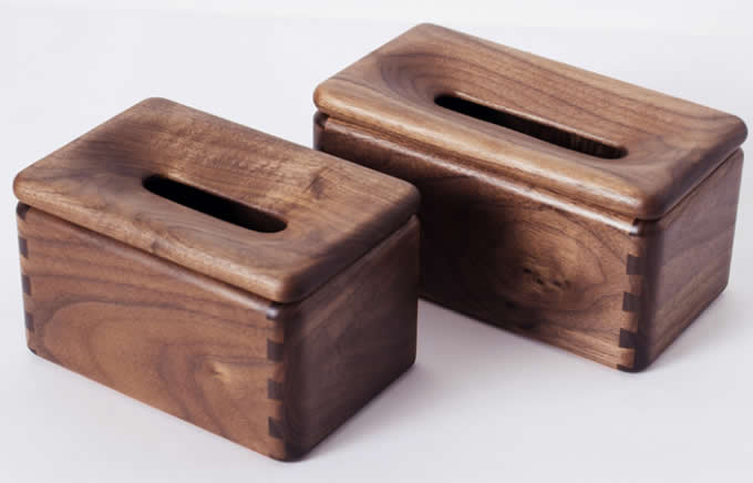 Customize Logo/Name Engrave Black Walnut Wood Square Tissue Box Cover Holder
