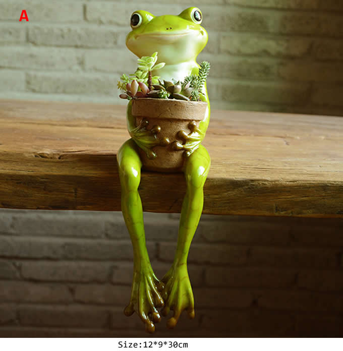 Cute Frog Succulent Planter Plant Pot Flower Pot