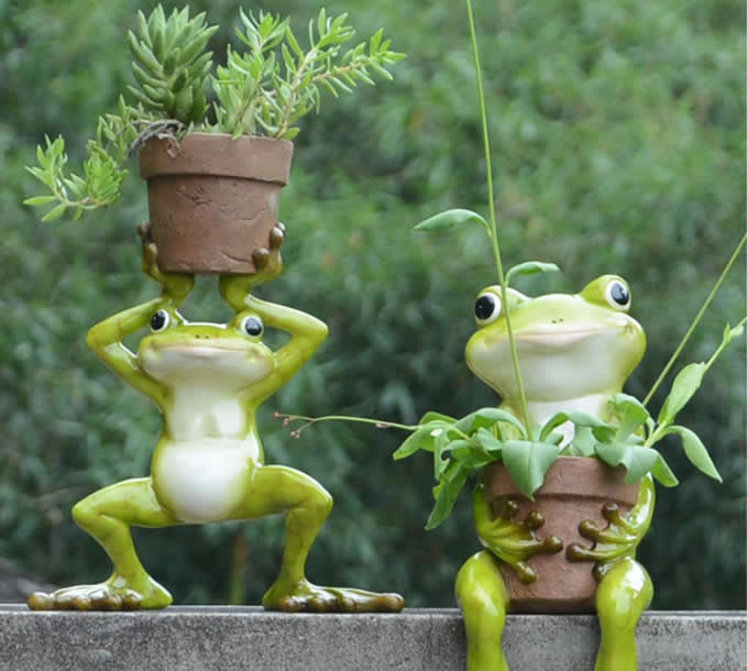 Cute Frog Succulent Planter / Plant Pot / Flower Pot / Bonsai Pot