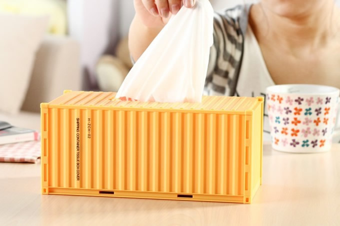 DIY Shipping Container Tissue Box