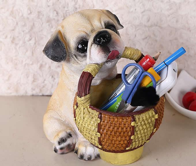 Dog Pen Pencil Holder Desk Organizer