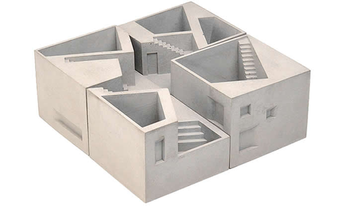 Handmade Concrete Architecture Stairs Pen Holder  Desk Organizer