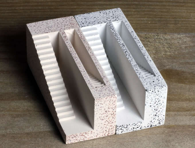 Handmade Concrete Architectural  Business Card Holder
